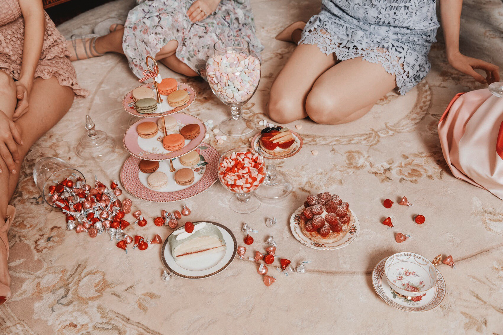 Valentine's Day Tea Party, Viktor Benes Bakery, Amara Cake Stand