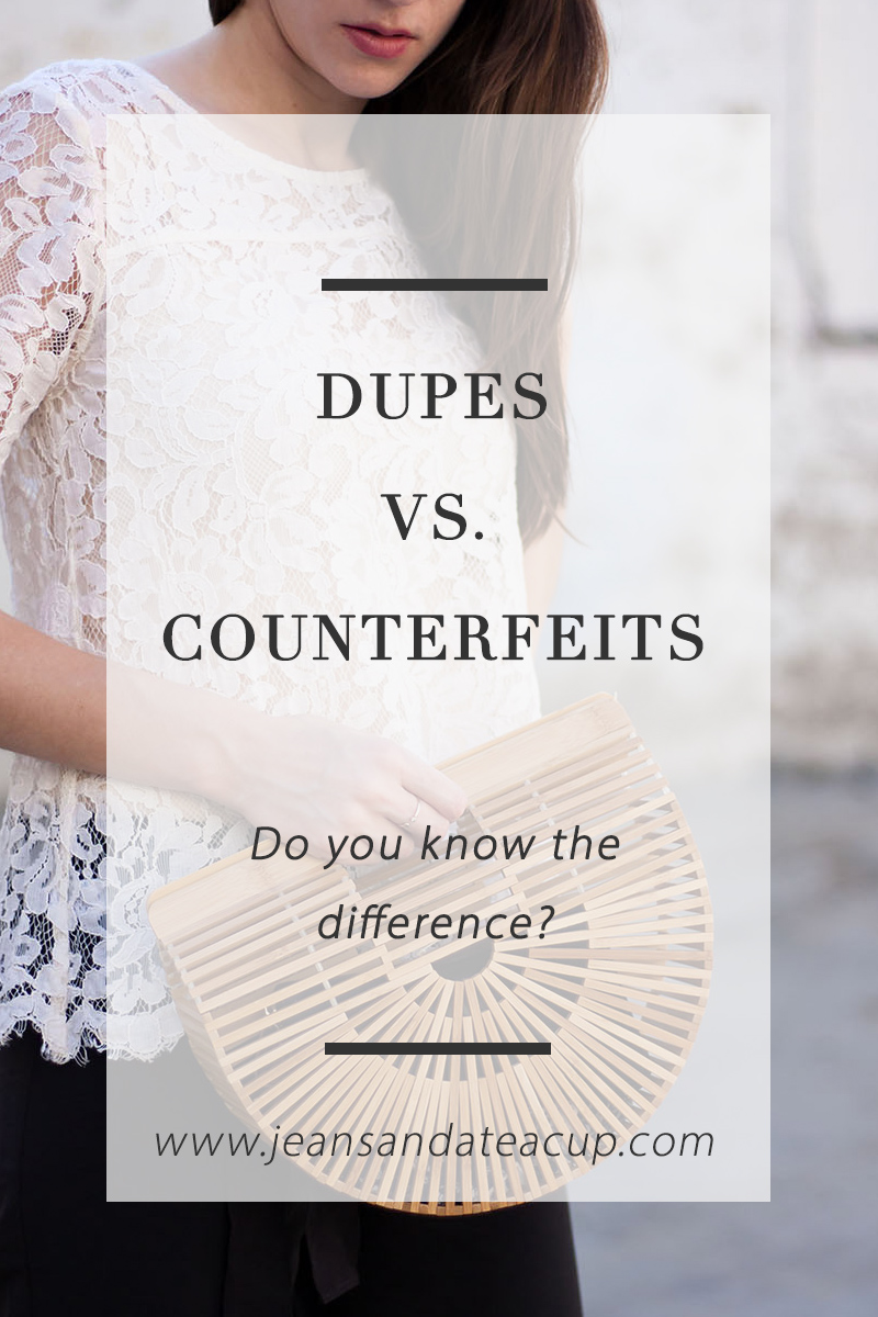 Dupes versus Counterfeit bags