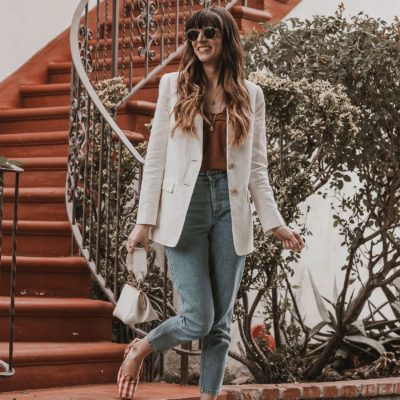 How to wear a linen blazer with jeans, Everlane Blazer