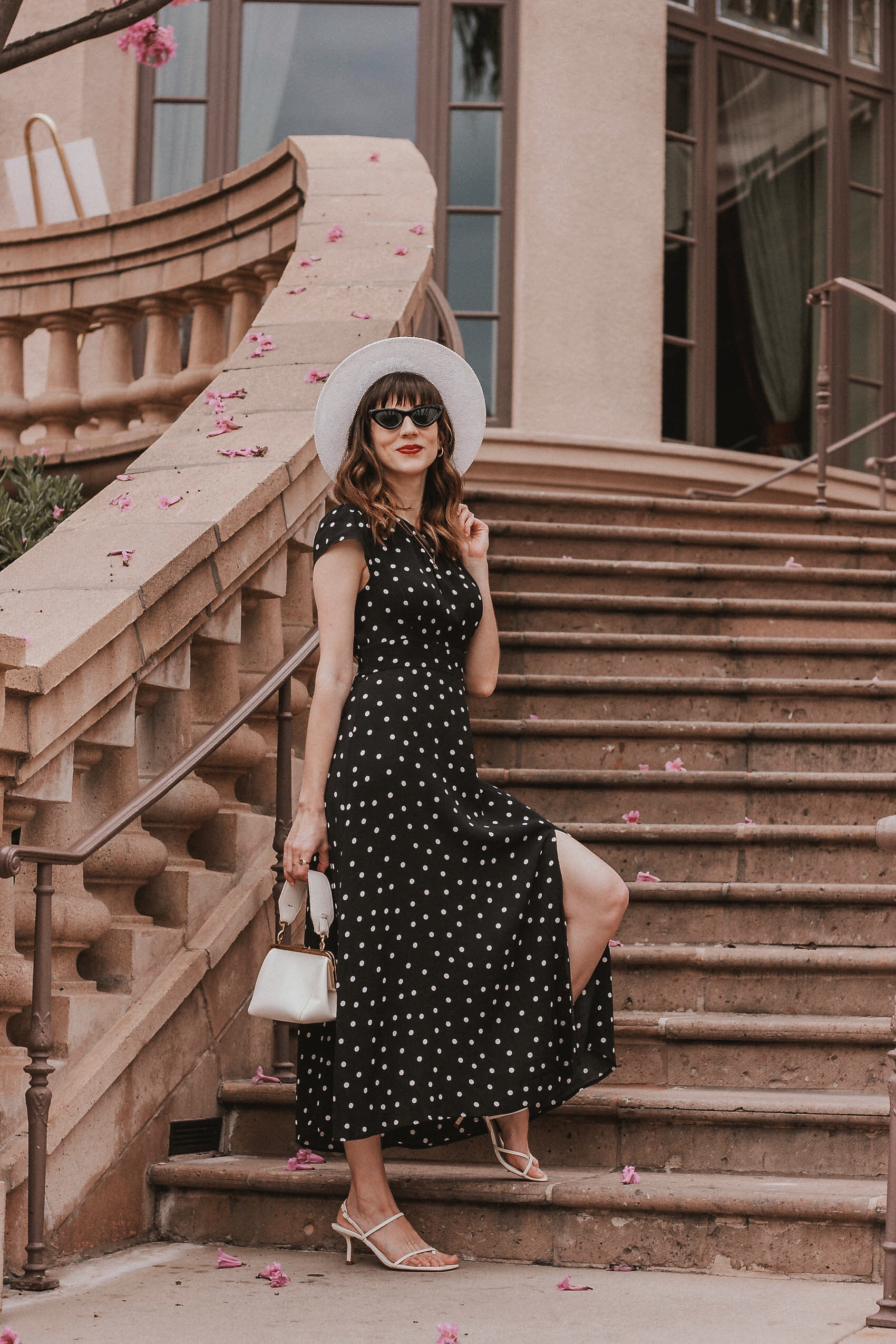 Los Angeles Fashion Blogger wearing a spring date night outfit at The Langham in Pasadena