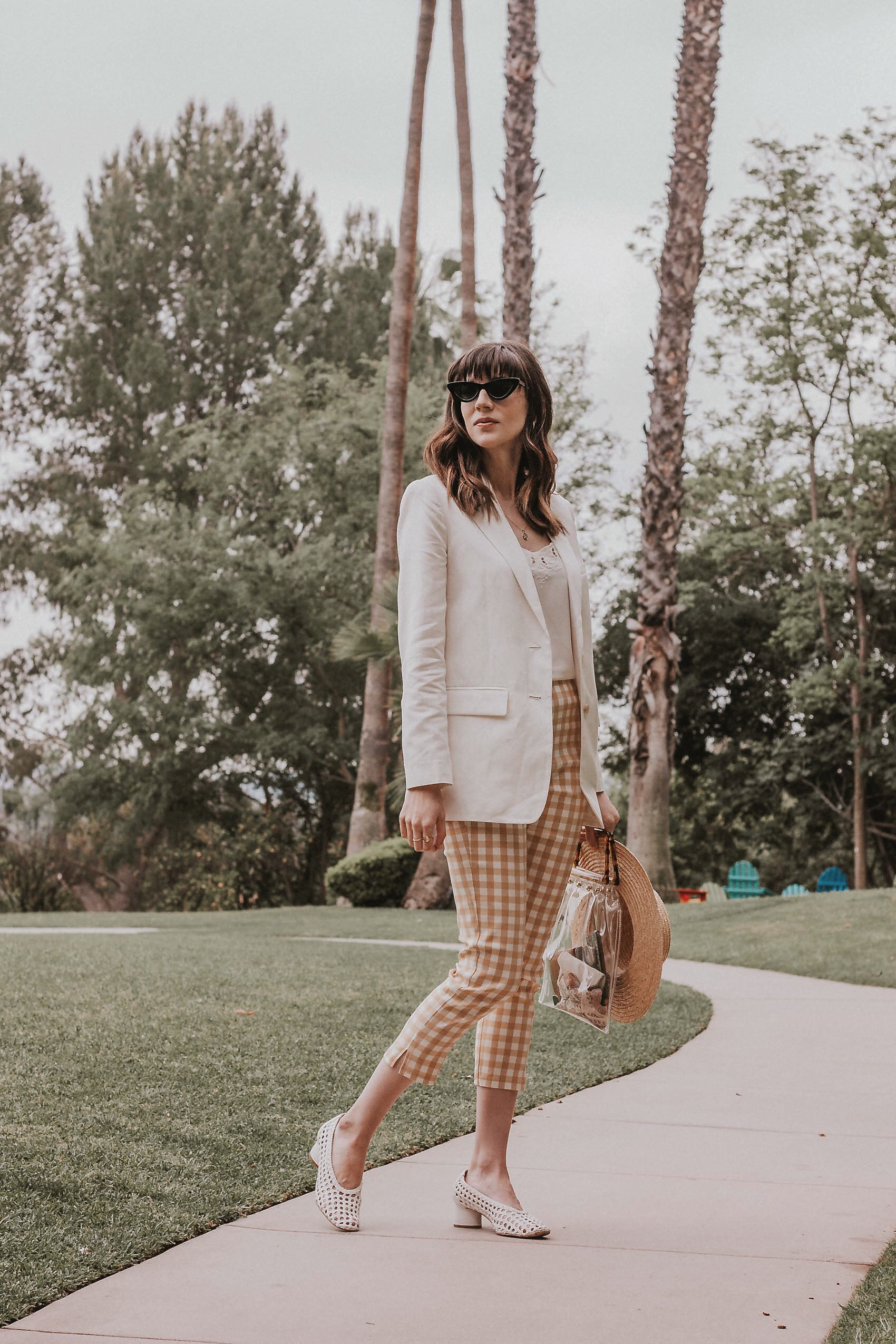 LA Fashion Blogger wearing WWW Collection pants from Target and Everlane Linen Blazer