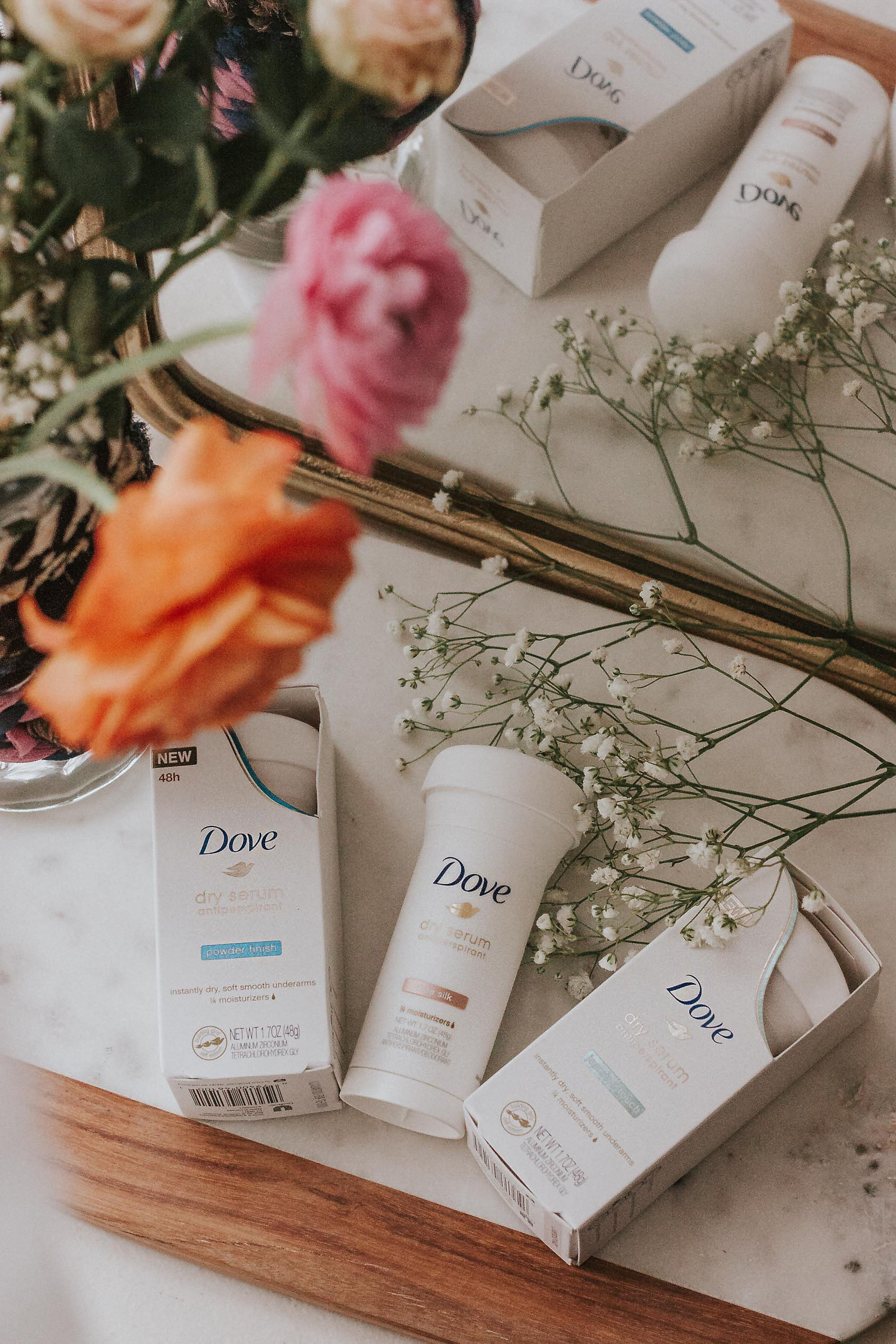 Dove Dry Serum Antiperspirant Fragrances, Rose Silk, Jasmine Touch, Powder Finish