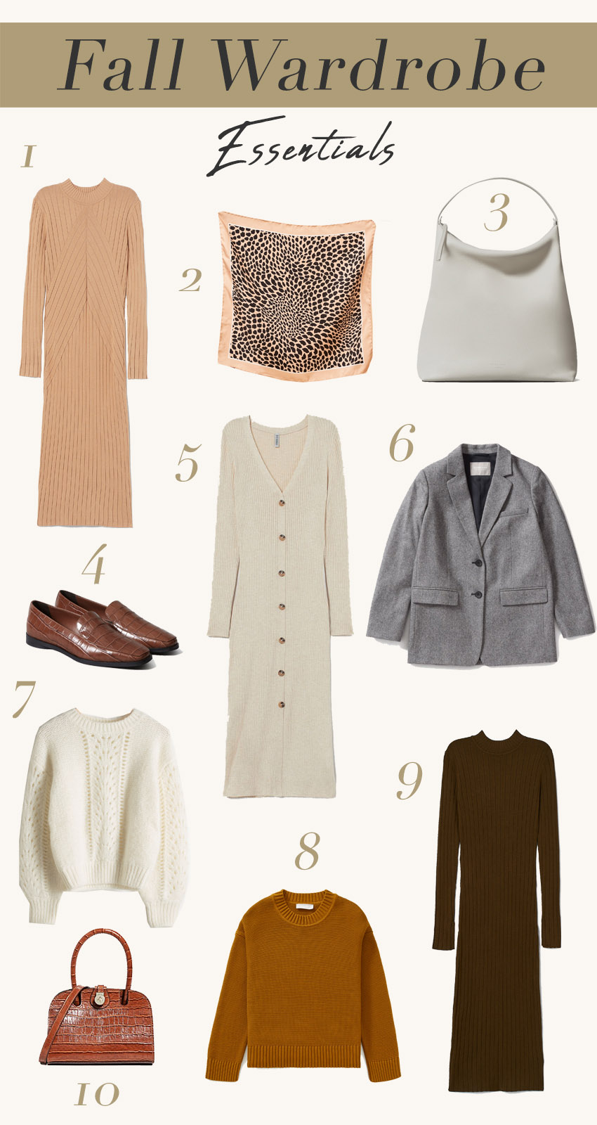 Fall Wardrobe Essentials for the minimalist