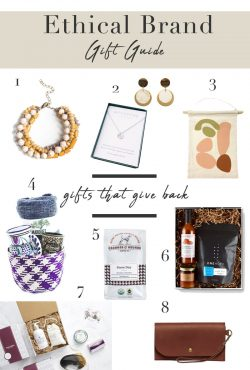 Ethical Brand Gift Guide for 2020