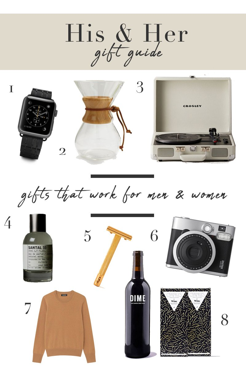 His and Her Gift Guide 2020, Gifts that work for men and women
