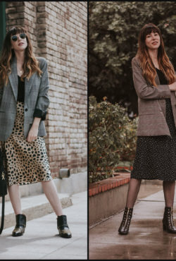 How to Style and Oversized Blazer with Skirt