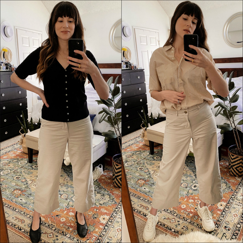 Everlane Wide Leg Lightweight Pants Styled Two Ways