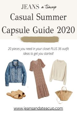 Casual Summer Capsule Guide 2020