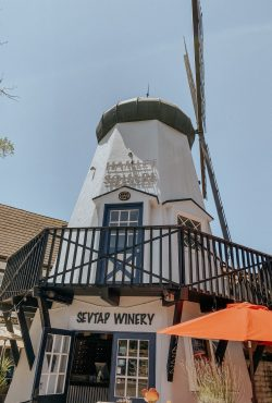 Windmills at Solvang in California