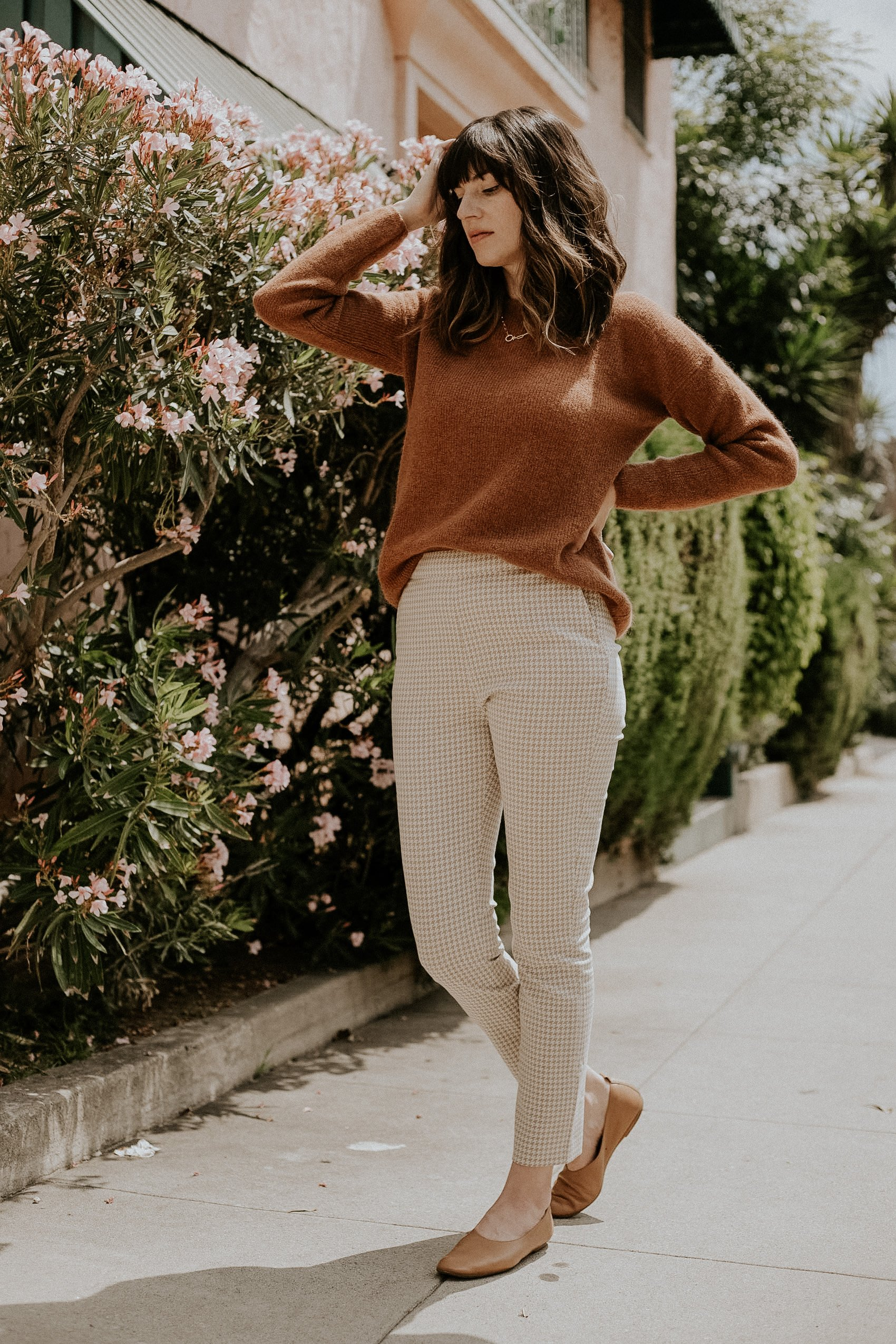 Sezane Outfit, Clara Trousers, Gaspard Knit