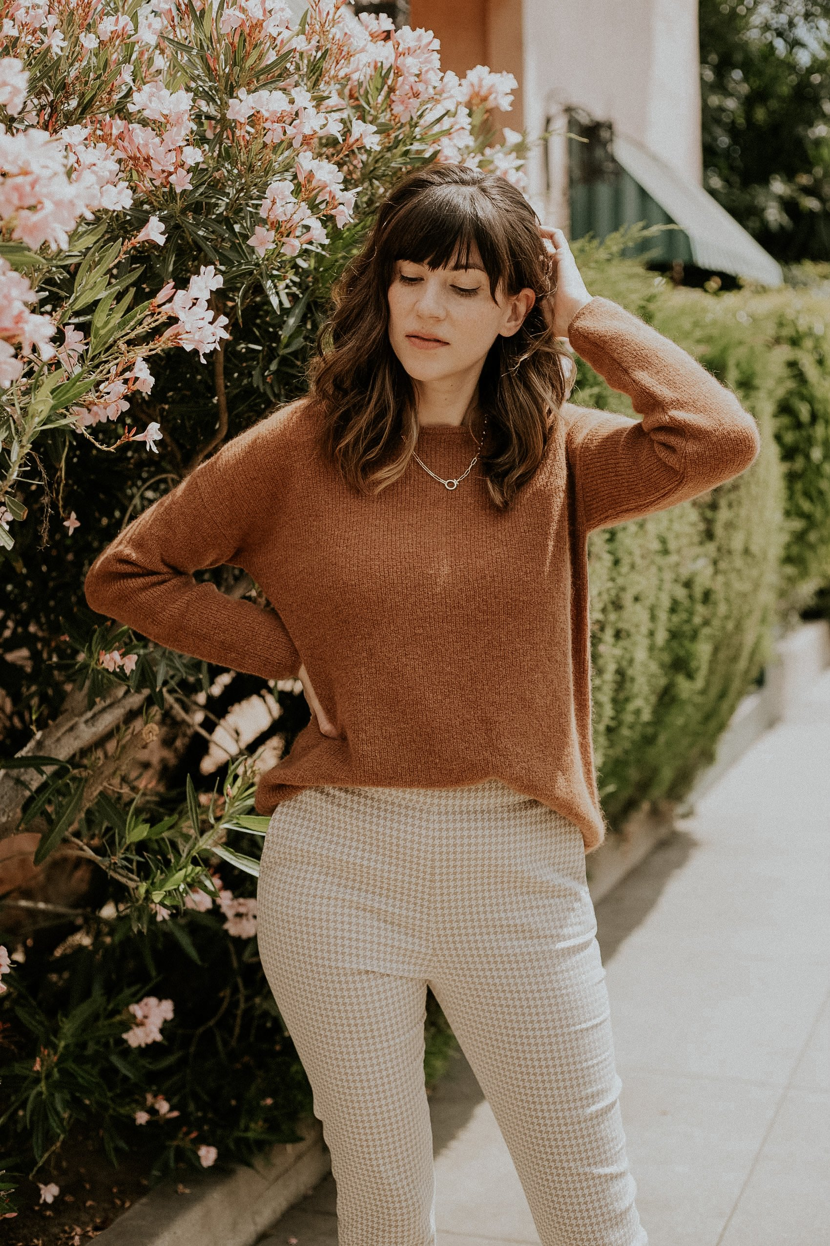 Sezane Gaspard Sweater with Clara Trousers