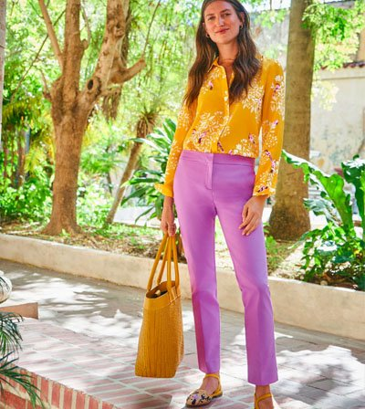 Boden colorful shirt and pants