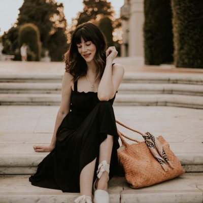 A Black Dress and a Classic Tote