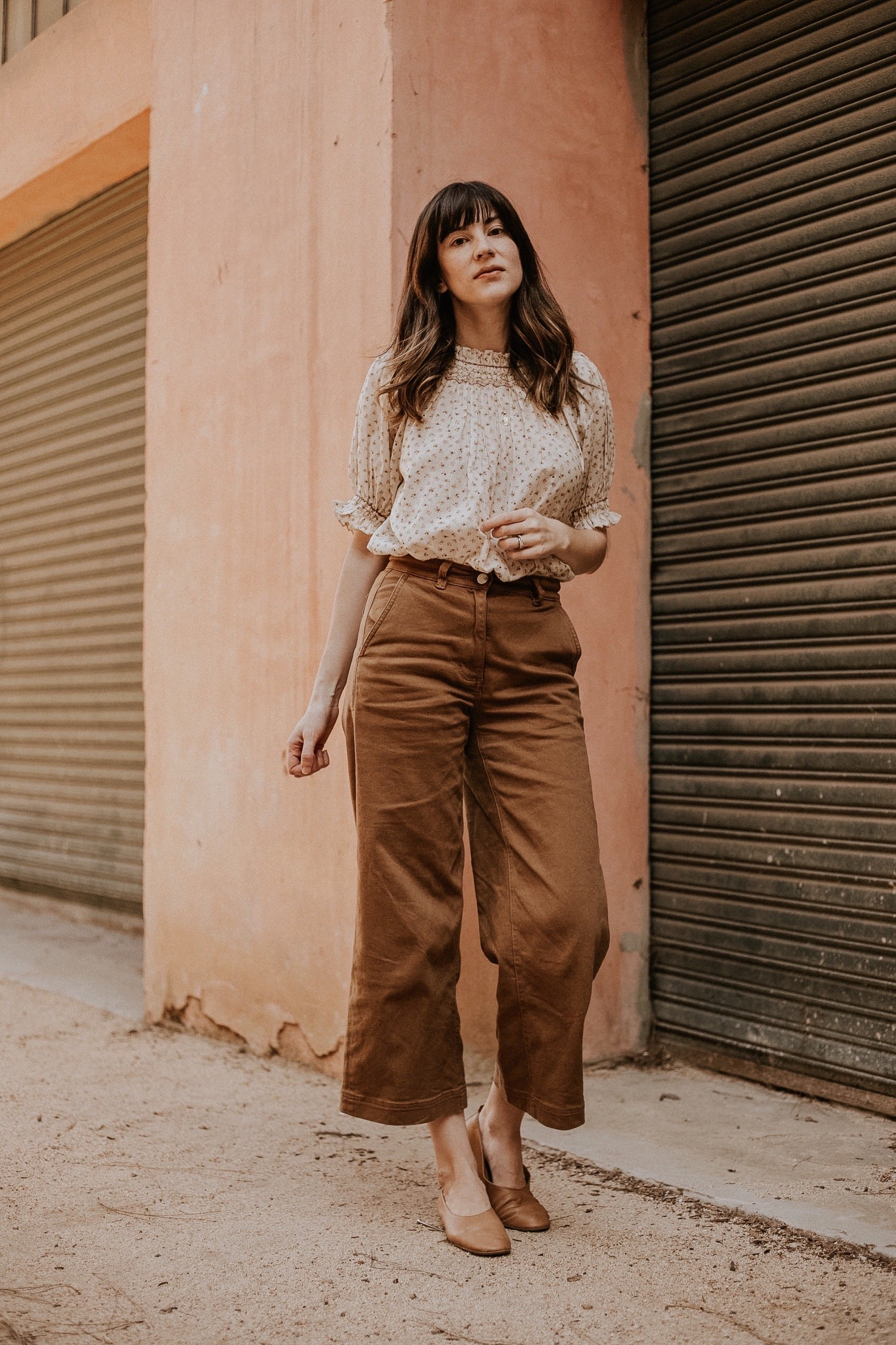 Los Angeles Ethical Fashion Blogger wearing Doen Top and Everlane pants