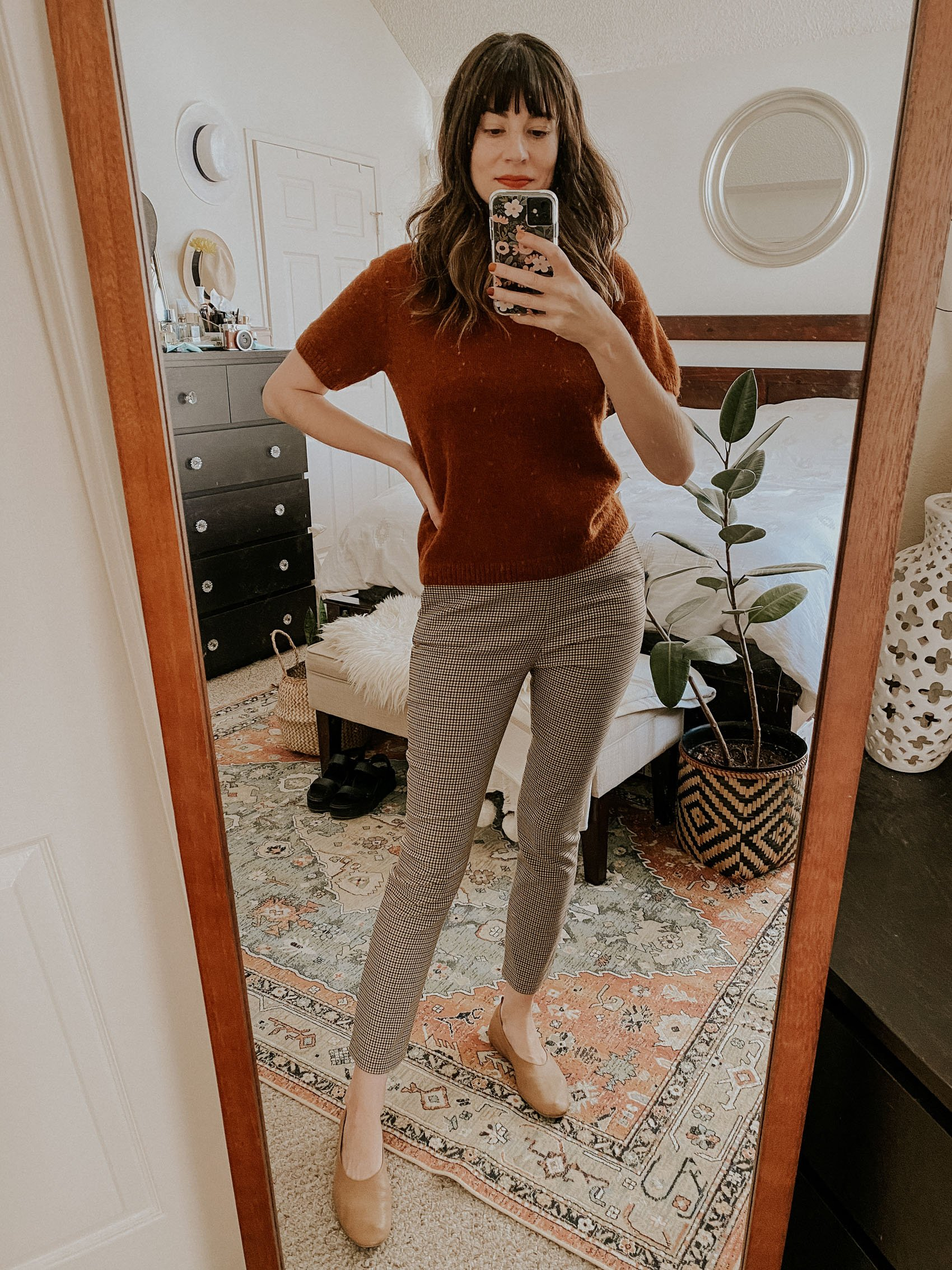Everlane Alpaca Tee with Sezane Clara Trousers