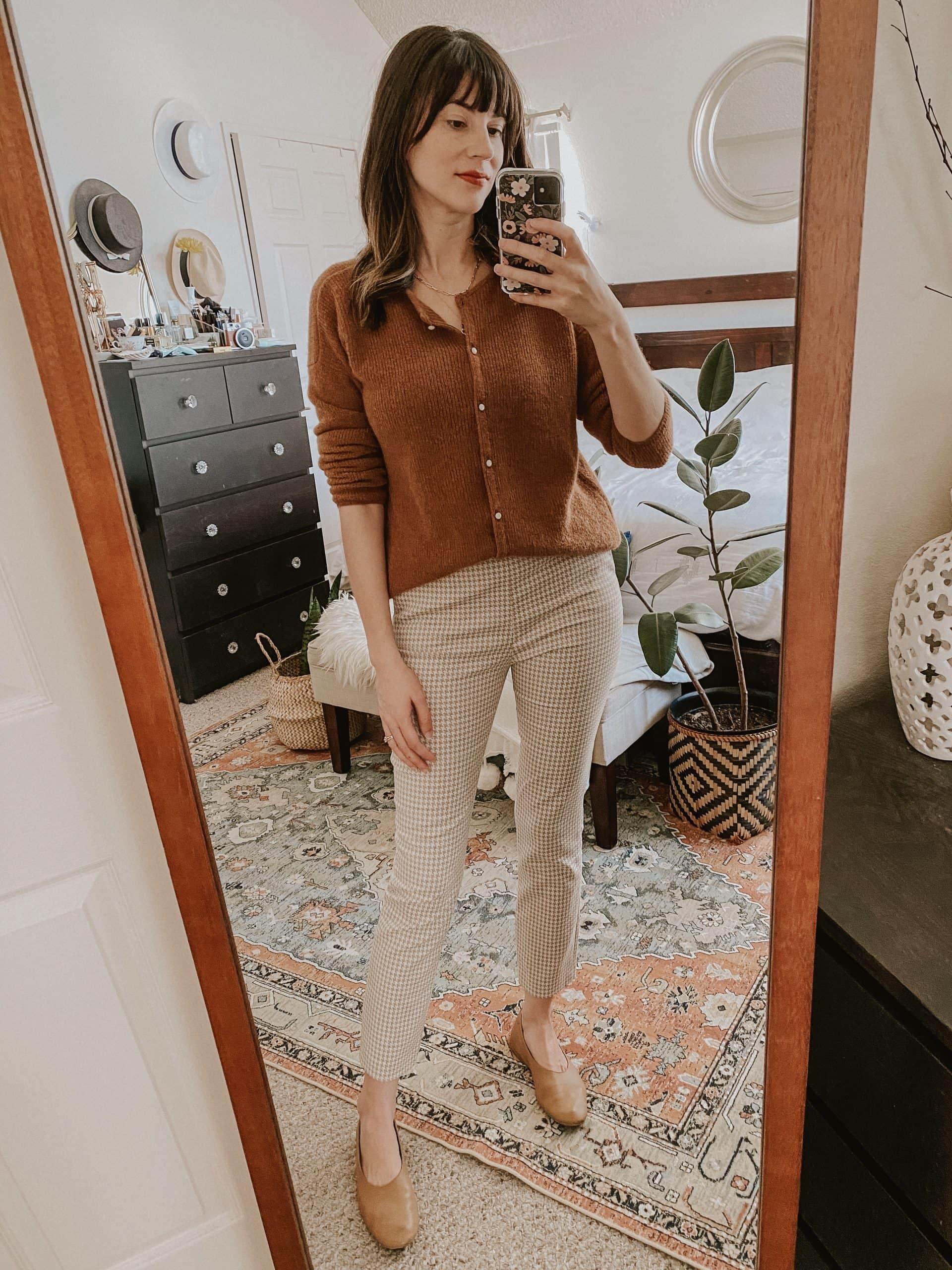 Fall outfits, Sezane gaspard sweater, Clara Trousers