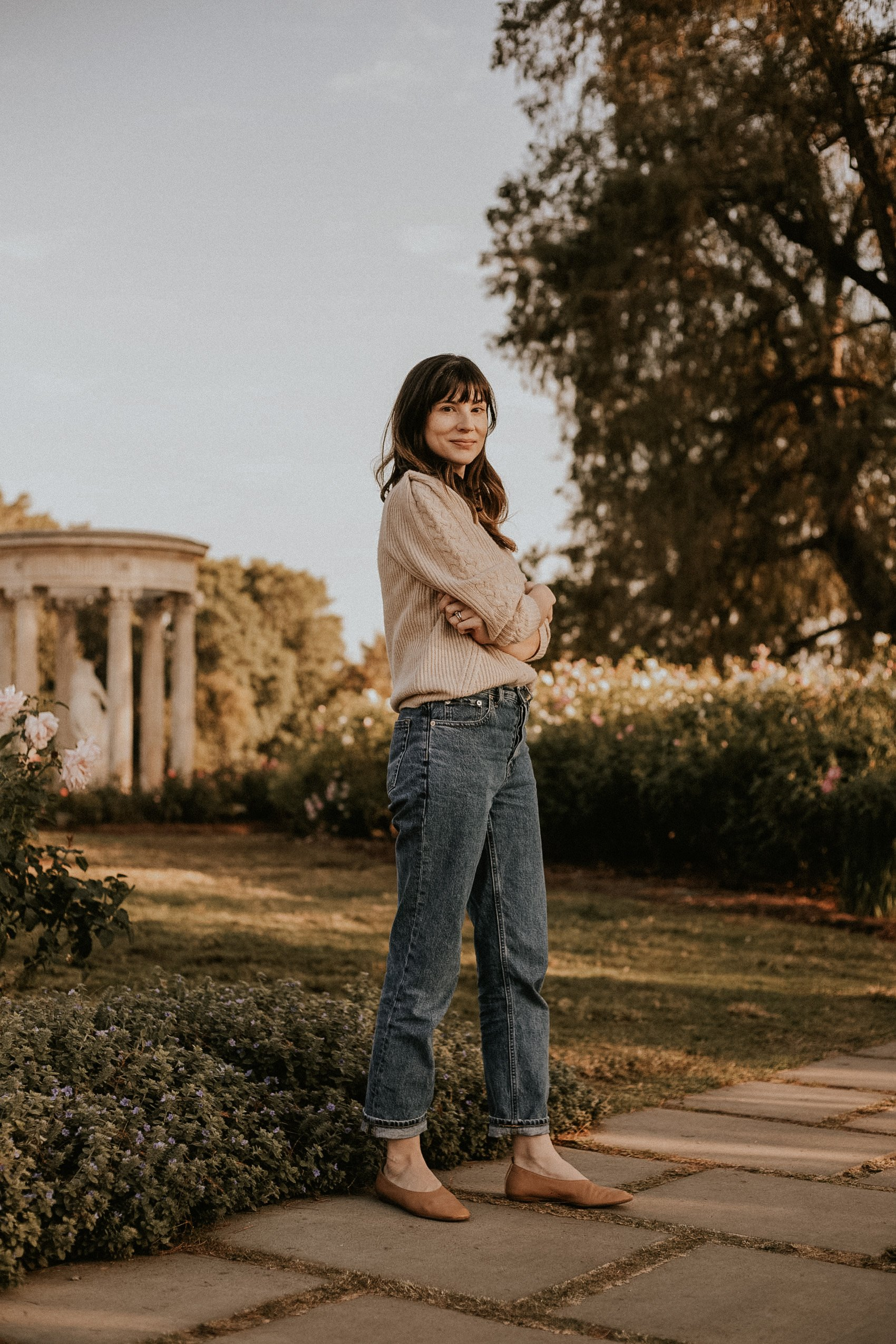 Ethical Fashion Brands Naadam and Everlane on Fashion Blogger Jeans and a Teacup at the Huntington Library