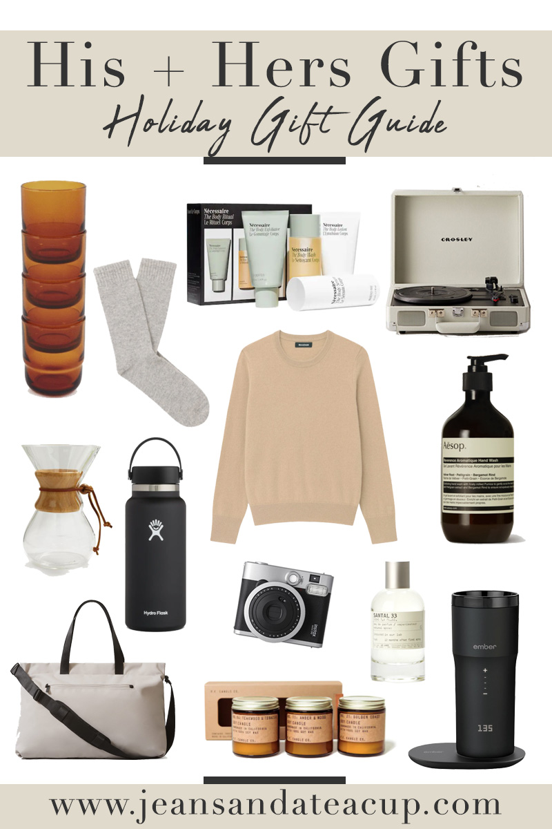 Unisex Gift Guide, His and Hers Gift Guide, Holiday Gift Guide 2021