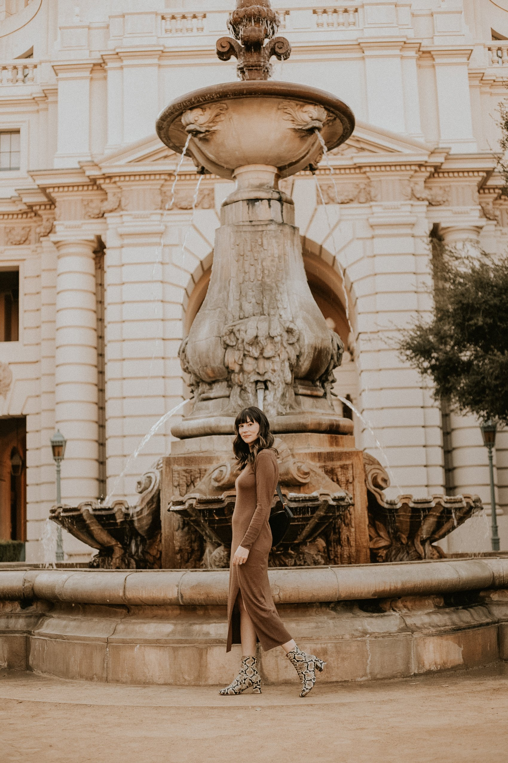 Minimalsit Fall Outfit with Naadam Dress and Reiken Nen Bag, Neutral Fall Outfit