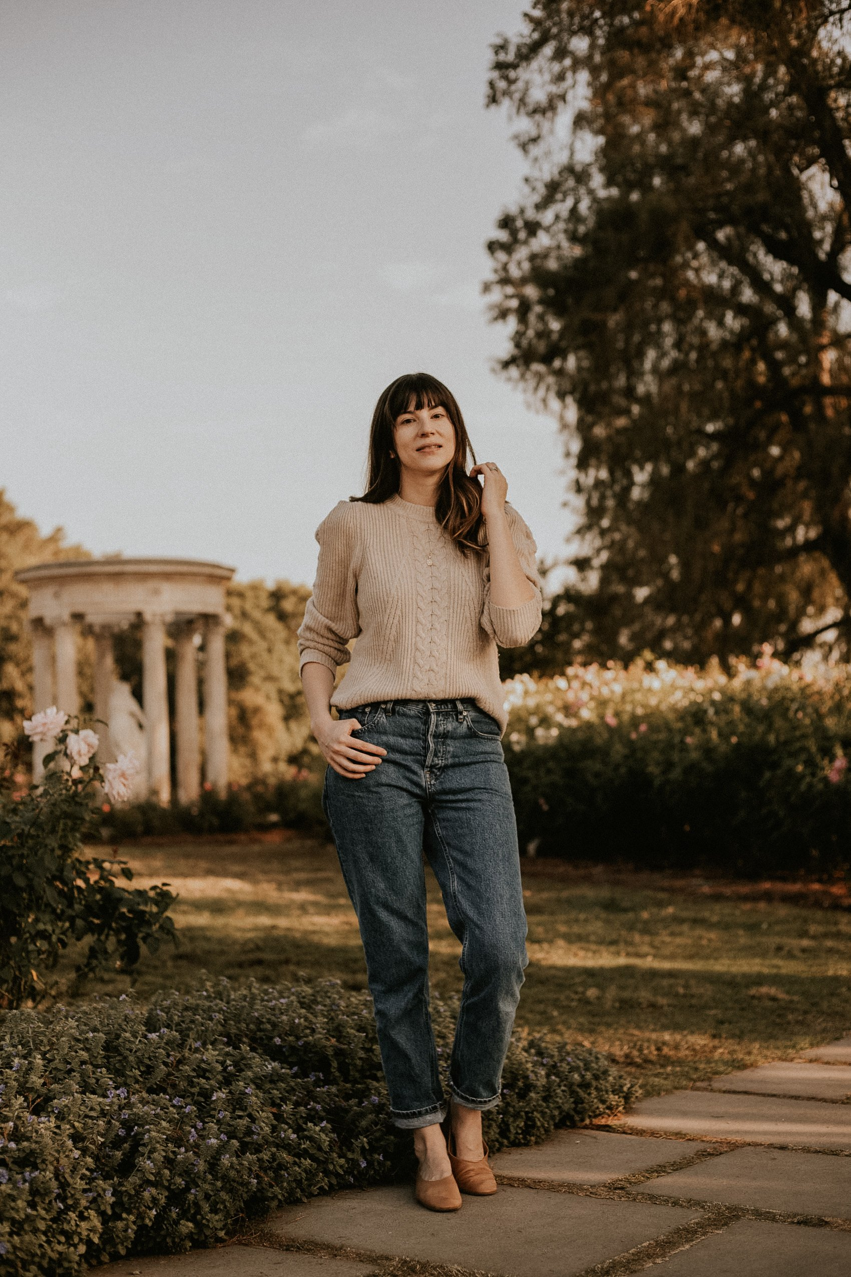 Structured Shoulder Sweater from Naadam with Everlane Mom Jeans