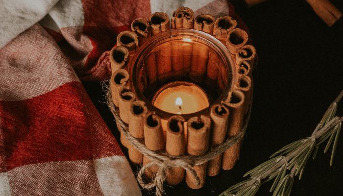 Easy DIY Cinnamon Stick Tea Light Candle Holder