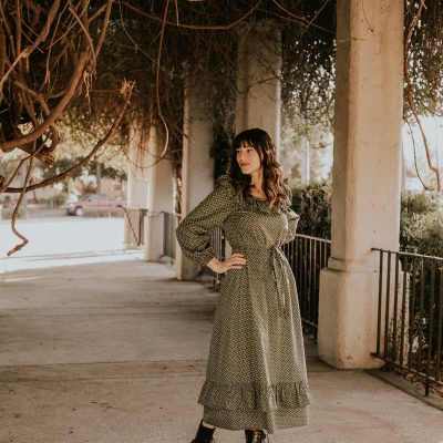 The Green Floral Prairie Dress of My Dreams from Christy Dawn