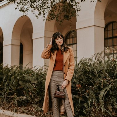 A Long Camel Coat + Fall Colors Outfit