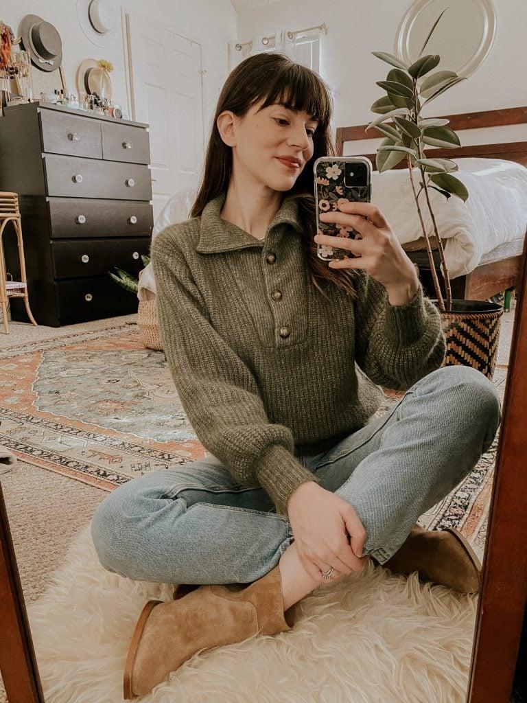 Mirror Selfie with Sézane Micky Jumper