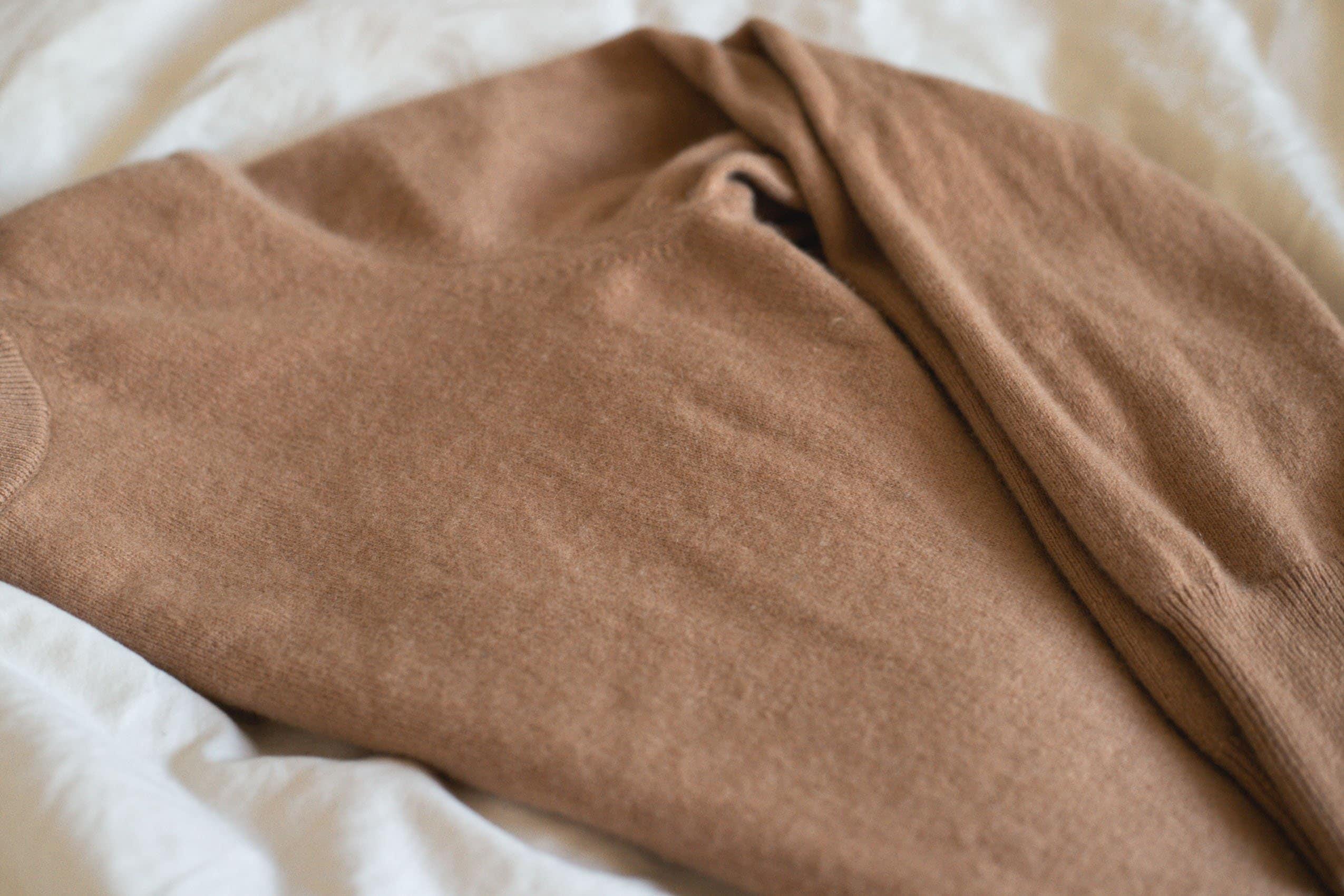 Close Up of Naadam Cashmere Sweater