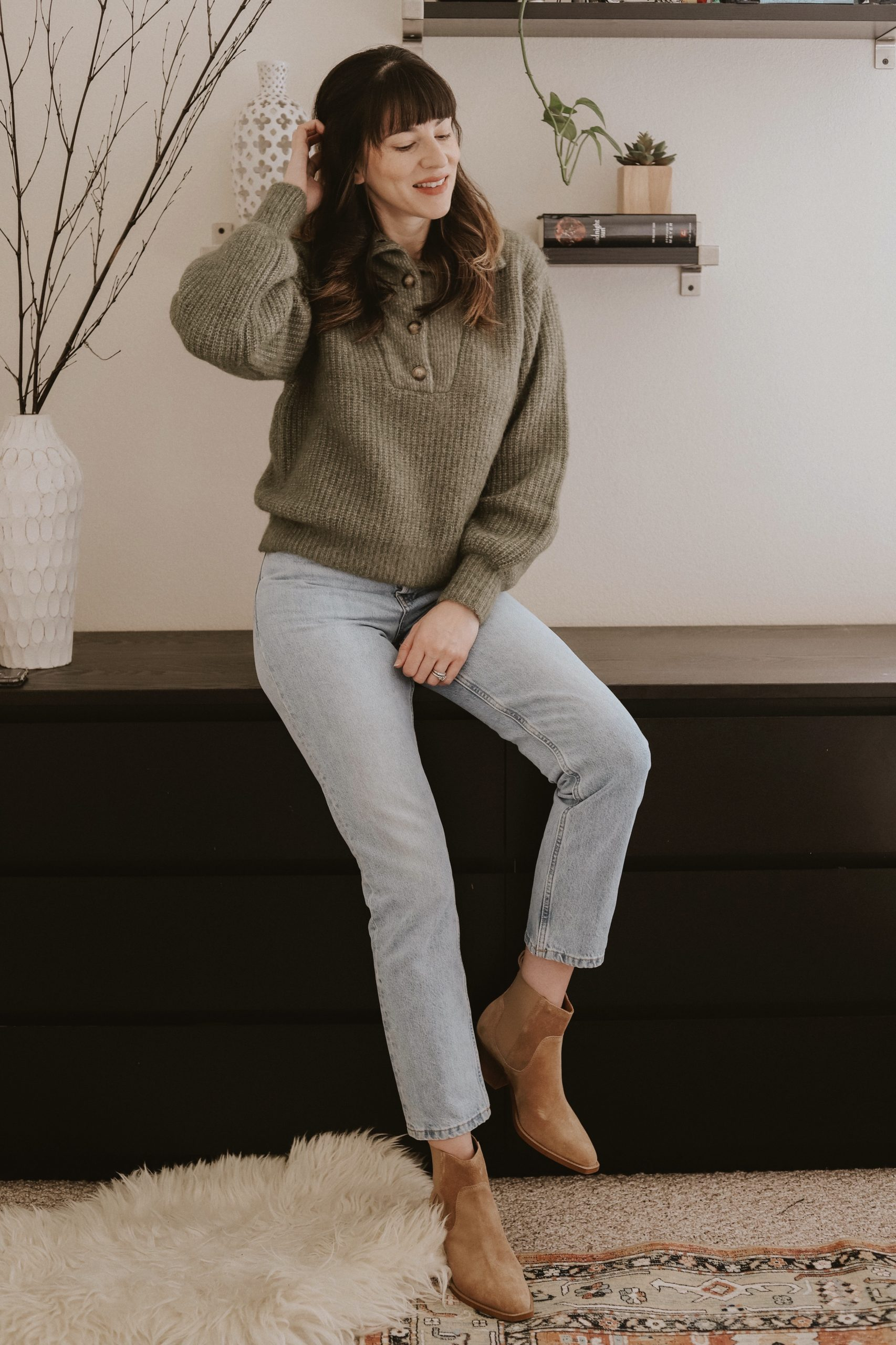 Los Angeles Fashion Blogger wearing The Micky Jumper from Sézane Essential Collection