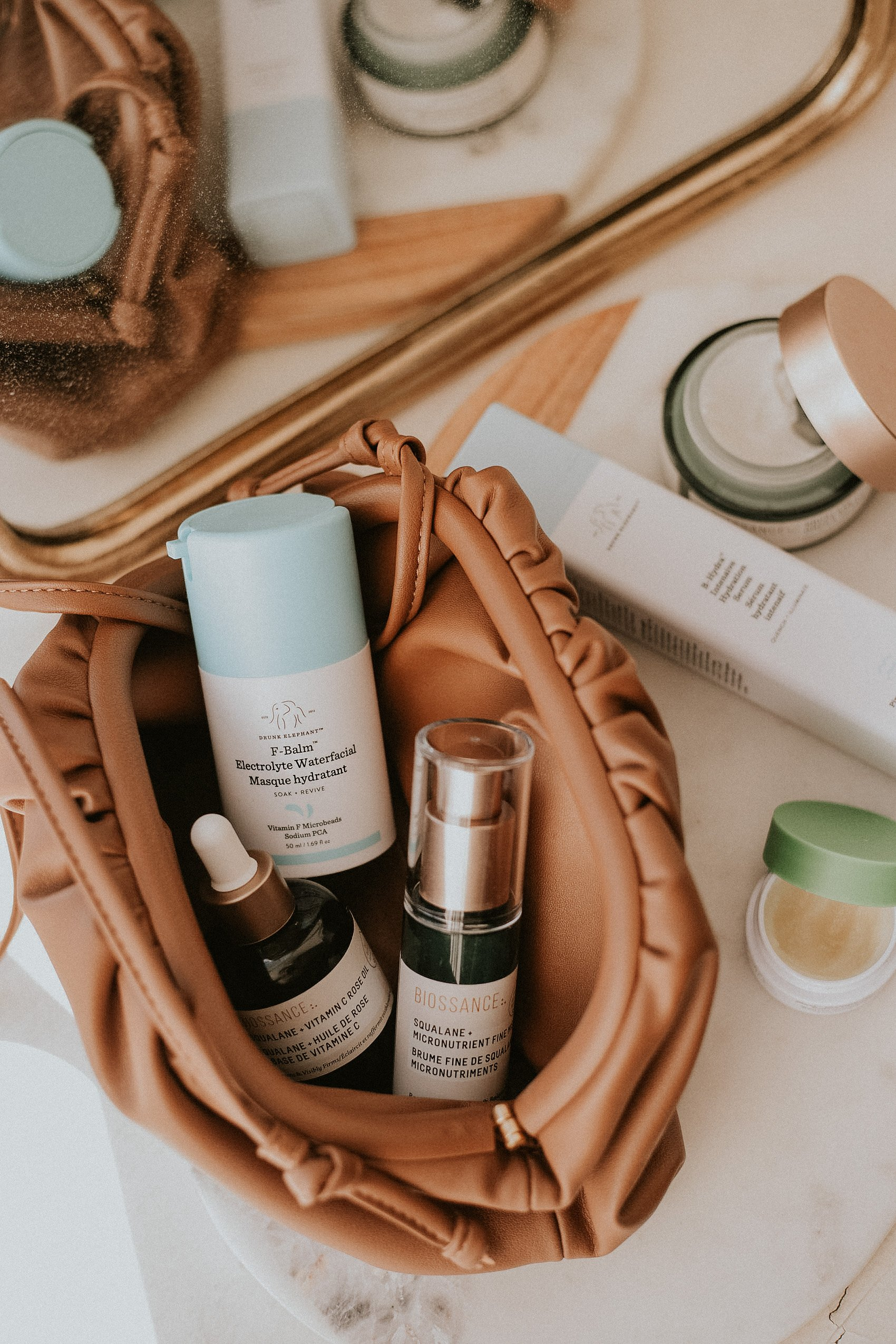 Winter Skincare Routine for Dry Skin using Clean Beauty Products Biossance and Drunk Elephant