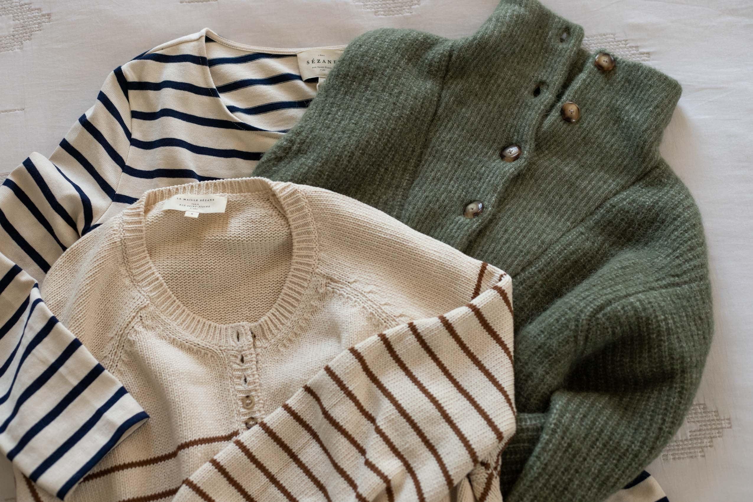 Sezane Sweater Flatlay