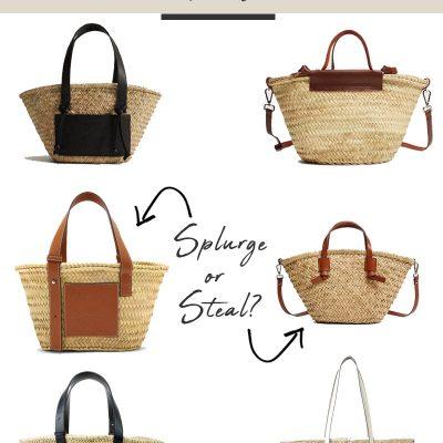 LOEWE Basket Bag Dupes Collage