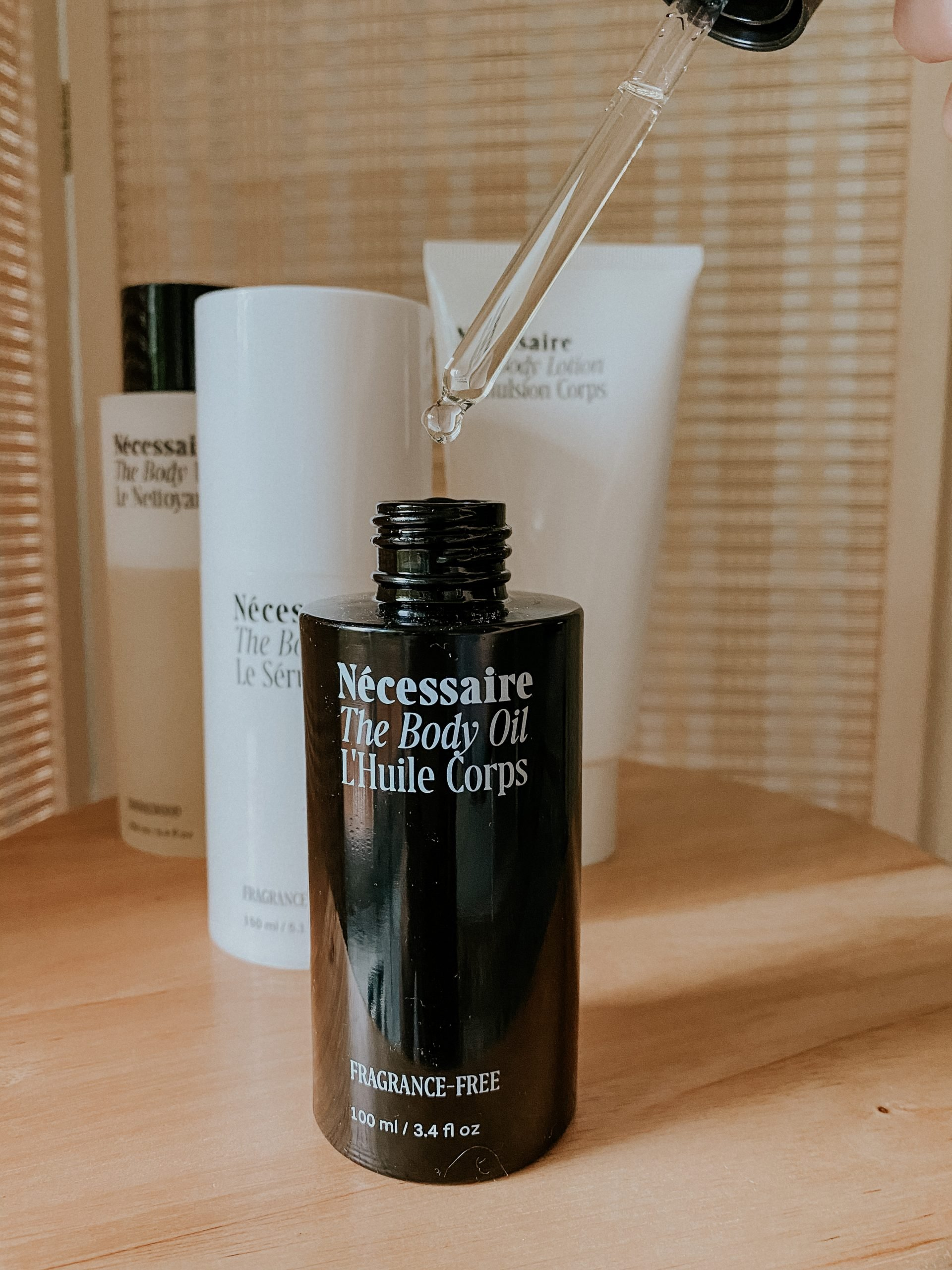 Necessaire The Body Oil with other Necessaire body products
