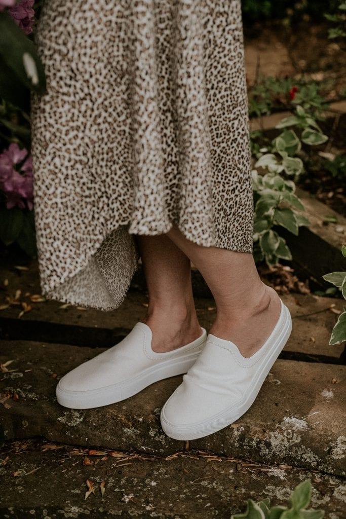 Jenni Kayne White Canvas Slip on Sneakers