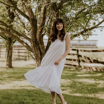 Easy Summer Outfits featuring Jenni Kayne White Summer Dress on women standing in field