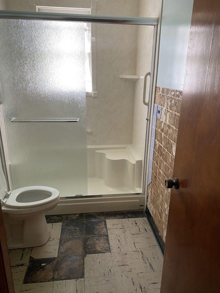 small bathroom fixer upper before photos