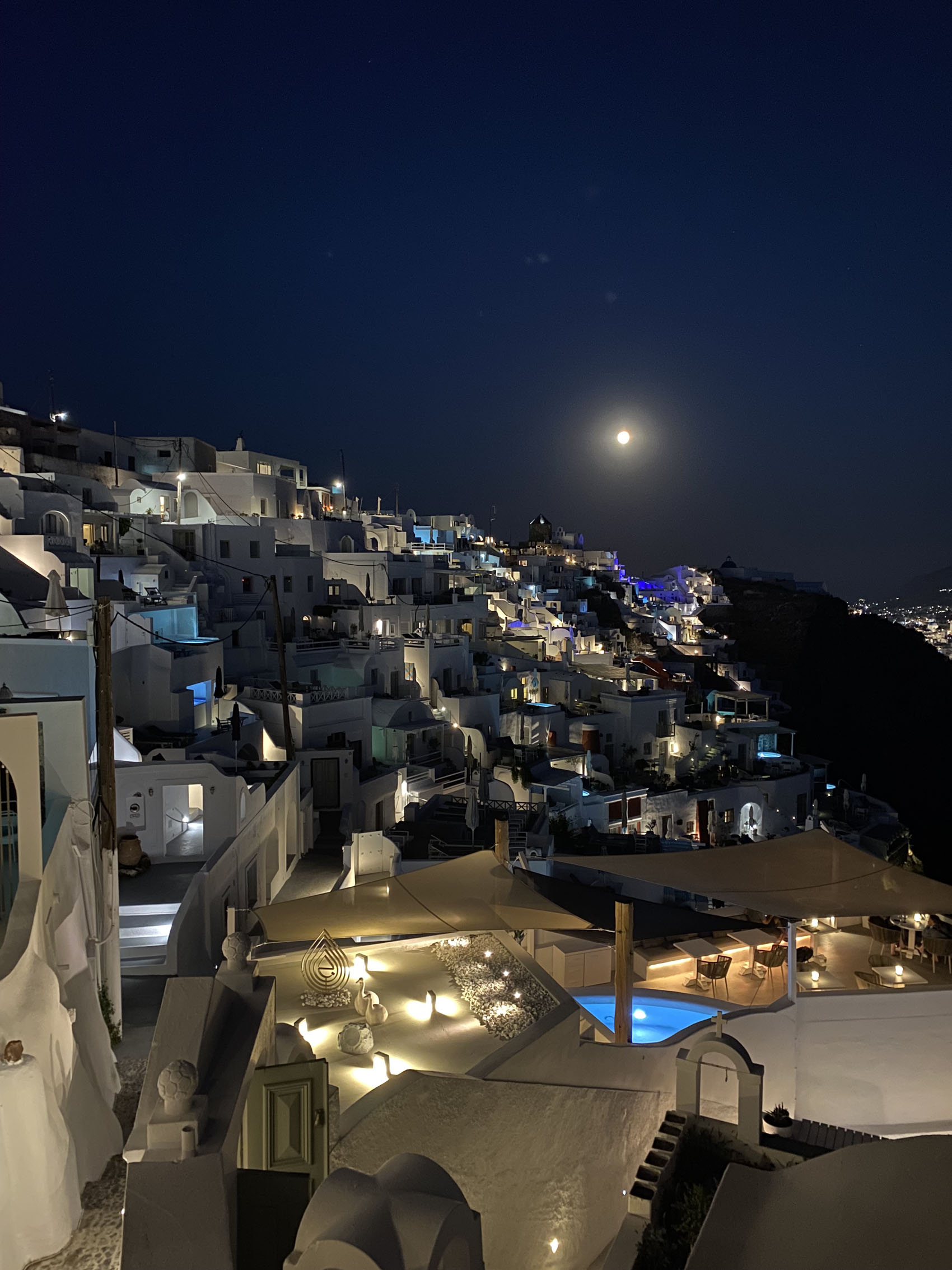 Imerovigli Santorini Greece at night