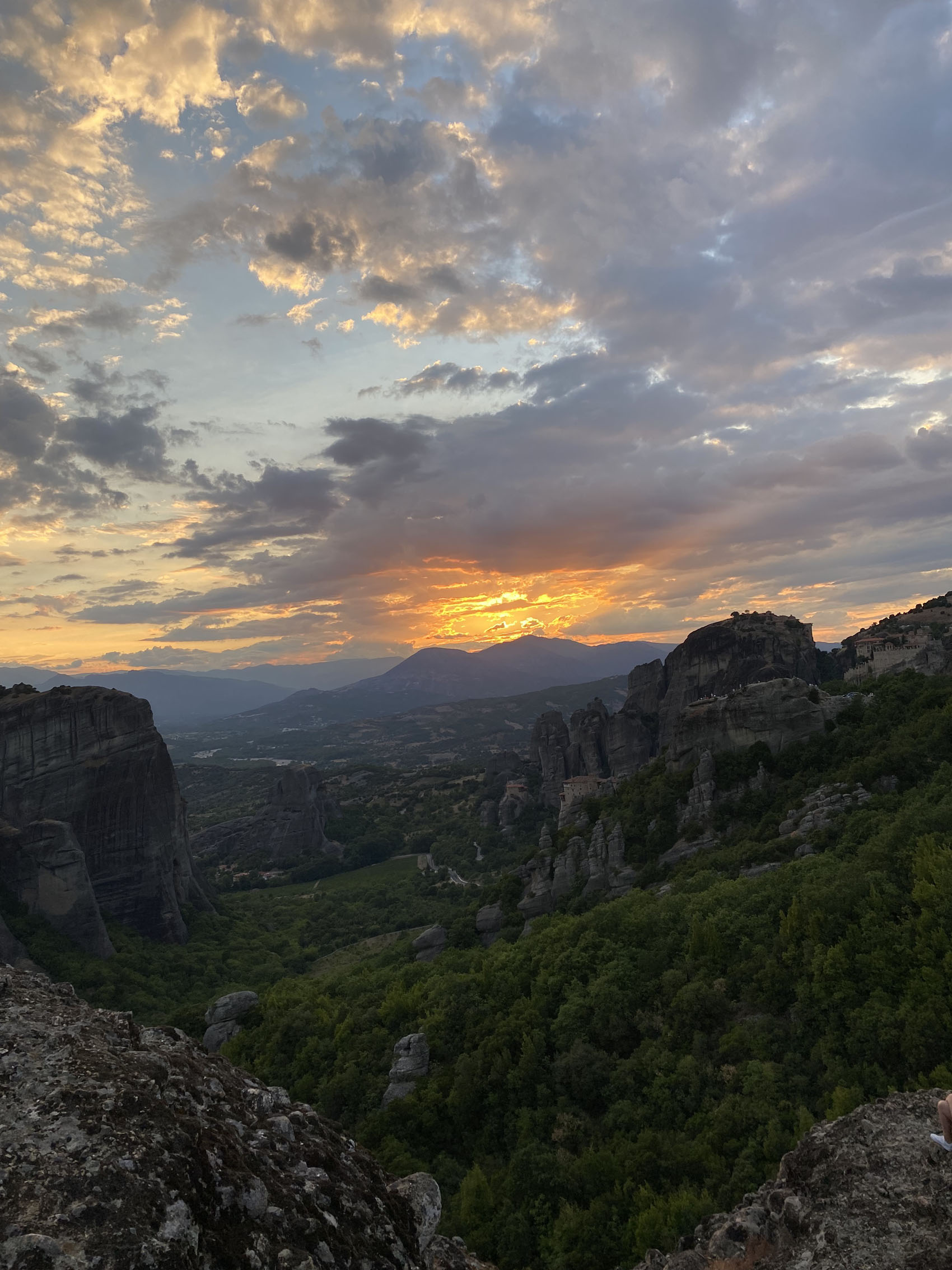 Meteora Sunset from the rock