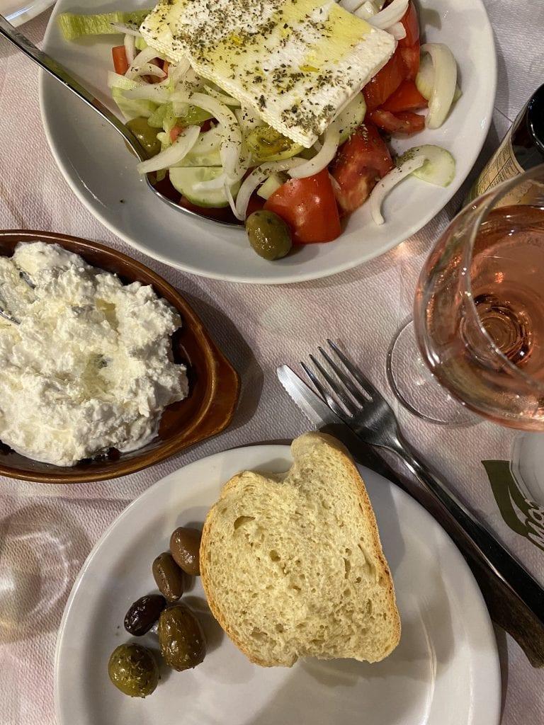 Greek Meal at the Meteora Taverna Gardenia