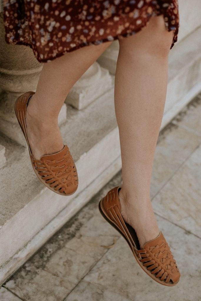 Nisolo Huarache Sandals in Almond
