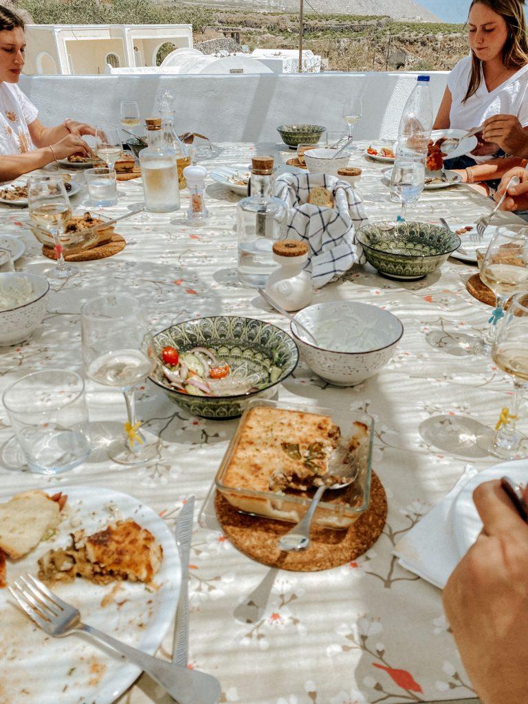 Petra Kouzina Cooking Class Meal on Santorini