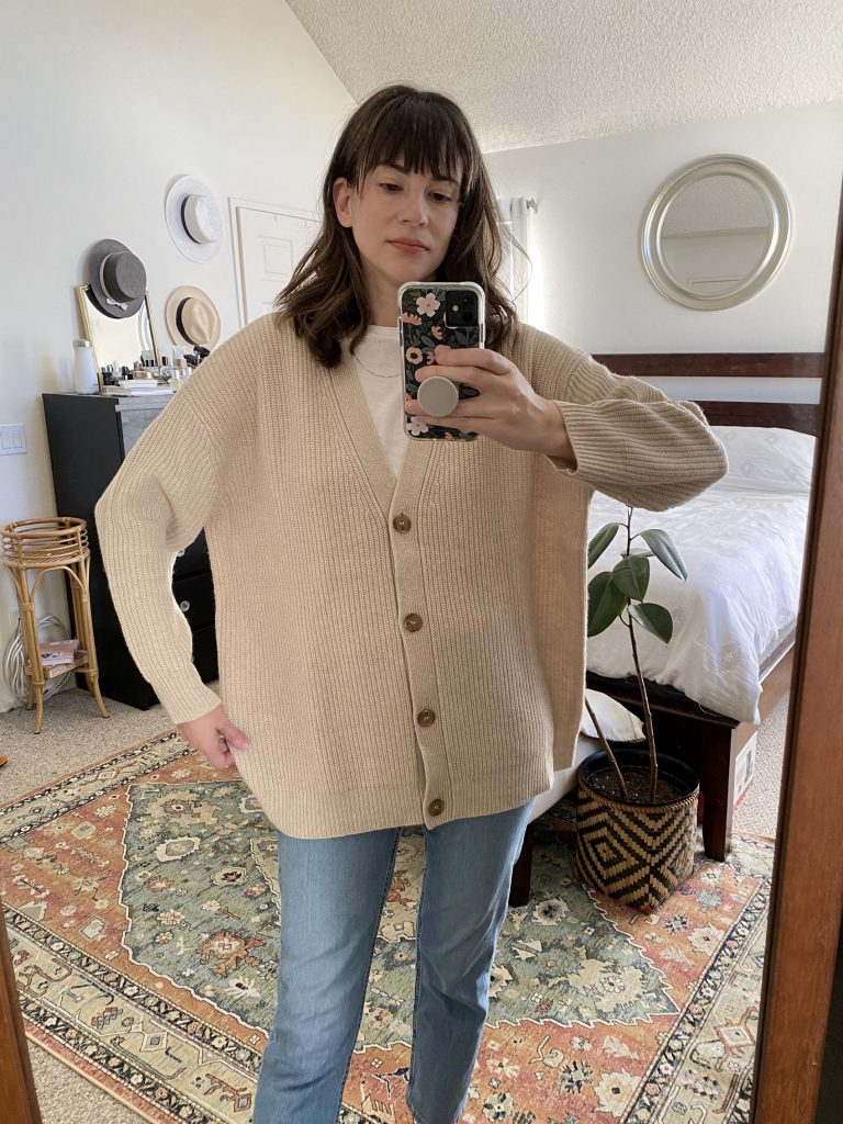 Cashmere Cocoon Cardigan sizing and fit