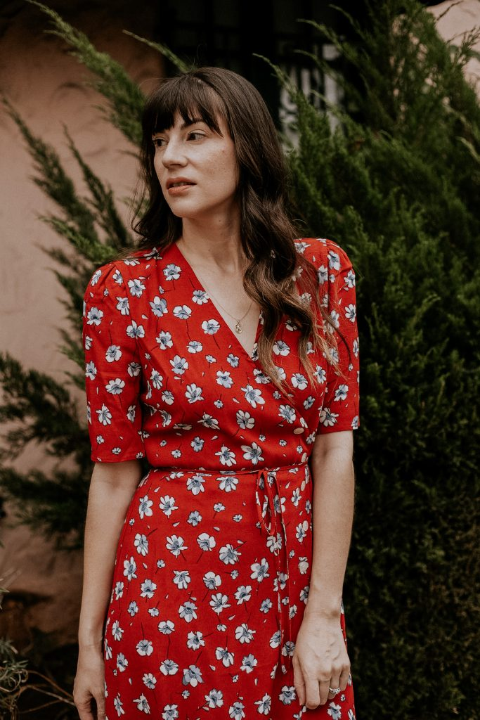 Red Floral Gabin Dress from James Bond's No Time to Die